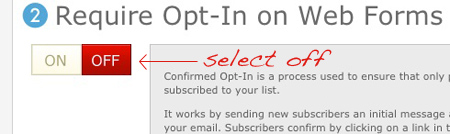 Required Opt-In Off